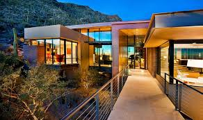 modern desert home design solar panels and eco sensitive design create smart home in sonoran