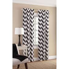 White And Teal Curtains Mainstays Chevron Polyester Cotton Curtain Panel Pair Walmart