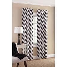White Chevron Curtains Mainstays Chevron Polyester Cotton Curtain Panel Pair Walmart