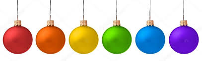 several hanging christmas baubles isolated u2014 stock photo