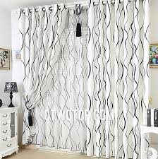 Black White Gray Curtains Catchy Black White Gray Curtains Decor With Unique Printed Toile