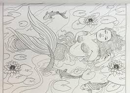 mythical mermaids fantasy coloring book fantasy coloring