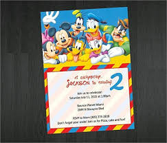 20 mickey mouse birthday invitation templates free clubhouse