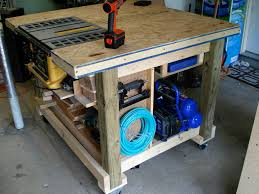 rolling workbench diy bench decoration garage work table bench workbench plans table saw
