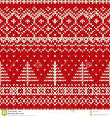 winter holiday seamless knitting pattern with a christmas tree