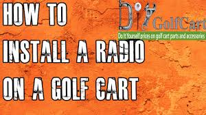 golf cart mp3 stereo how to install radio youtube