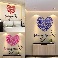 popular beauty decor buy cheap beauty decor lots from china beauty new hot love heart diy removable vinyl decal art mural wall stickers home room decor fashion