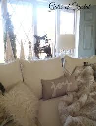 Pottery Barn Fur Blanket Gates Of Crystal Christmas Family Room