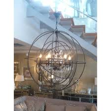 Sphere Chandelier With Crystals Chandelier Wood And Metal Orb Chandelier Outdoor Orb Chandelier