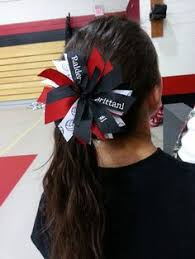 ribbon for hair that says gymnastics ponytail streamer tutorial so easy to make plus you can customize