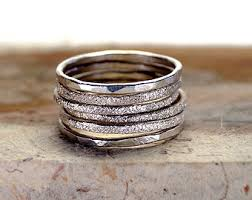 stackable engraved rings engraved ring set etsy