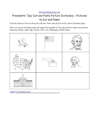 presidents u0027 day cut and paste picture dictionary a short book to