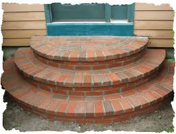 Brick Stairs Design Front Walkway With Steps Ideas Brick Cresent Steps Built By