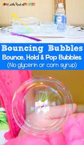 homemade bouncing bubbles recipe no glycerin or corn syrup