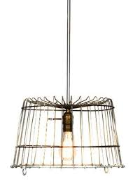 Wire Chandelier Diy Best 25 Wire Basket Chandelier Ideas On Pinterest Wire Light