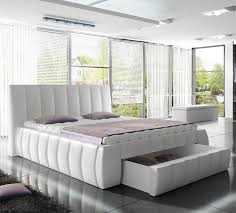 european king bed orren ellis danvers modern european kingsize upholstered storage