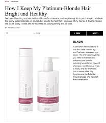 allure best leave in conditioner allure how i keep my platinum blonde hair bright and healthy blndn