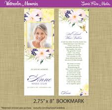 Funeral Invitation Cards Funeral Memorial Bookmark And Prayer Card Printable