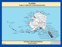 Alaska Map Images by Maps Alaska Zone Forecast Boundaries