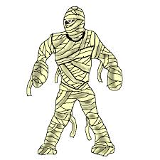 mummy clipart cute halloween pencil and in color mummy clipart