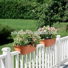 on sale kailai deck rail planter box color clay garden pots garden