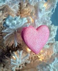 lucky 4 leaf clover handmade ornament sparkly green glittered
