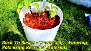 create self watering pots using old recycled materials youtube