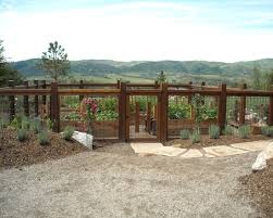 exterior design traditional landscape garden fenced away from