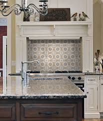 Large Tile Kitchen Backsplash Kitchen Backsplash Tile Murals Wall Tile Murals Quatrefoil Tile