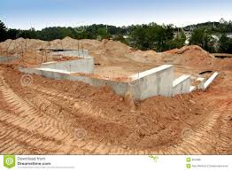 new home foundation cement foundation of a brand new home stock photo image of begin