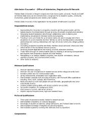 cover letter for admissions counselor the letter sample