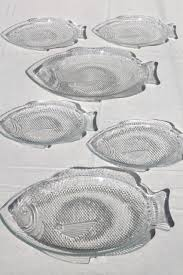tray plates vintage arcoroc glass poisson fish shaped plates platter