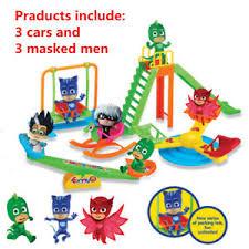 pj masks party command center car parking car toys catboy