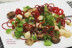 comment cuisiner les petoncles salade de mâche et pétoncles aux marrons