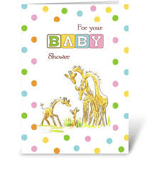 baby shower giraffe baby shower giraffe family congratulate send this greeting card