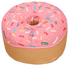 donut sized beanbag pink eclectic bean bag chairs by
