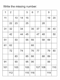 fill in the missing number worksheet worksheets