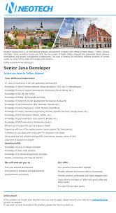 Fresher Resume For Java Developer Senior Java Developer Resume Resume For Your Job Application