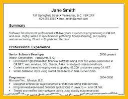 resume sample summary statement related for 8 resume summary