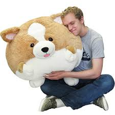 massive corgi bean bag an adorable fuzzy plush to snurfle and