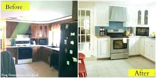 Spraying Kitchen Cabinets Before And After Painted Kitchen Cabinets Simple U2014 Desjar Interior
