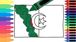 Algerian Flag How To Draw Algeria Flag Drawing The Algerian Flag Coloring