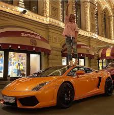 golden lamborghini russian rich spotted racing lamborghini along u0027putin u0027s