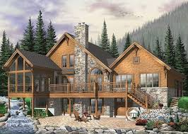 house plans with screened porches w3925 modern rustic chalet 3 to 5 bedrooms large terrace