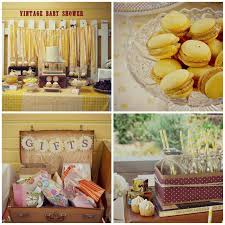 yellow baby shower ideas kara s party ideas yellow vintage baby shower party ideas
