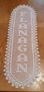 name letter pattern filet crochet crochet your name finally a pattern with stitches
