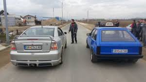 opel rat strumica drag race 09 02 2014 opel kadett vs opel astra youtube