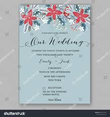 winter wedding invitation wish you merry stock vector 497215192