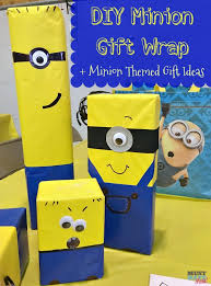 minion gift wrap diy minion gift wrap idea must