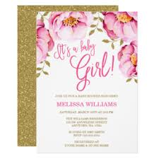 pink and gold baby shower invitations pink gold baby shower invitations announcements zazzle